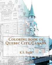 Coloring Book of Quebec City, Canada