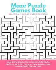 Maze Puzzle Games Book