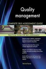 Quality Management Complete Self-Assessment Guide