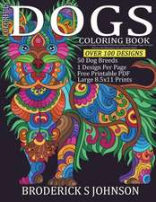Colorful Dogs Coloring Book (Adult Coloring Gift)