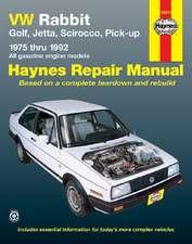 VW Rabbit, Jetta, Scirocco and Pickup, 1975-1992