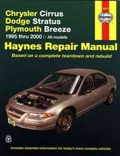 Chrysler Cirrus, Dodge Stratus, Plymouth Breeze, 1994-2000:  Complete Fuel Injection Trouble Code Charts