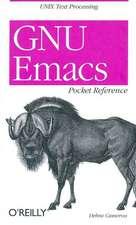 GNU Emacs – Pocket Reference