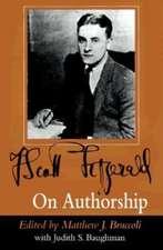 F. Scott Fitzgerald on Authorship