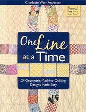 One Line at a Time:  24 Geometric Machine-Quilting Designs Made Easy [With Inchie Ruler Tape]