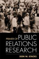 PRIMER OF PUBLIC RELATIONS RES