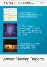 Annals Meeting Reports – Diabetes and Oral Disease, Stem Cells, and Chronic Inflammatory Pain, Volume 1255