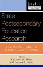 State Postsecondary Education Research:  New Methods to Inform Policy and Practice