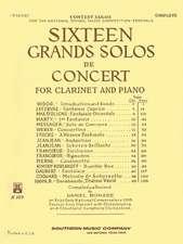 16 Grand Solos de Concert: Clarinet with Piano