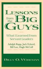 Lessons from the Big Guys