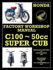 Honda Motorcycles Workshop Manual N00 Super Cub