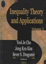 Inequality Theory & Applications: Volume 3