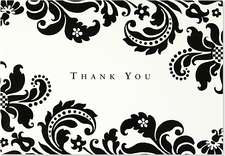 Shadow Tapestry Thank You Notes: Stationery, Note Cards