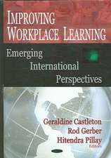 Improving Workplace Learning:  Emerging International Perspectives