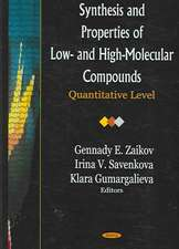Synthesis and Properties of Low- and High-Molecular Compounds