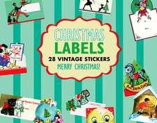 Christmas Gift Labels:  10 Vintage Die-Cut Designs