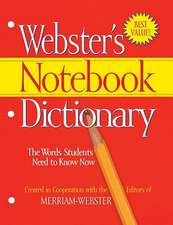Webster's Notebook Dictionary