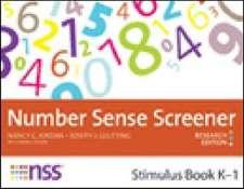 Number Sense Screener Stimulus Book, K-1:  Research Edition
