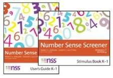 Number Sense Screener (Nss ) Set, K 1, Research Edition