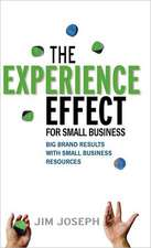 The Experience Effect for Small Business:  Big Brand Results with Small Business Resources