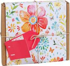 Posies:  Gift-Wrapped Green Thanks -- Thank You Notes Made from Ecologically Friendly Paper Decorated with Contemporary Illustr
