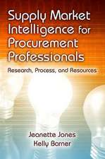 Supply Market Intelligence for Procurement Professionals:  Research, Process, and Resources