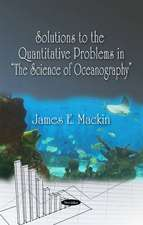 Solutions to the Quantitative Problems in The Science of Oceanography