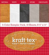 "Kraft-Tex Basics 5-Color Sampler Pack:  10-Sheets 8 1/2 X 11"" Sampler Pack"