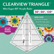 Clearview Triangle Mini Super 60 Acrylic Ruler