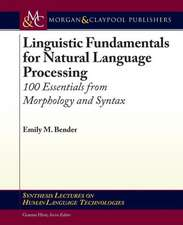 Linguistic Fundamentals for Natural Language Processing