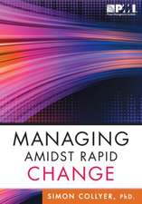 Managing Amidst Rapid Change:  Management Approaches for Dynamic Environments