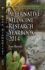 Alternative Medicine Research Yearbook 2014
