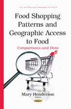 Food Shopping Patterns & Geographic Access to Food: Comparisons & Data