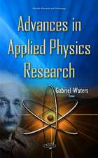 Advances in Applied Physics Research