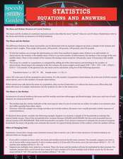 Statistics Equations and Answers (Speedy Study Guide):  The Road to Recovering Emotionally and Financially from Divorce