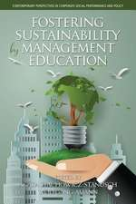 Fostering Sustainability by Management Education