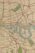1874 Map of London: A Poetose Notebook / Journal / Diary (50 pages/25 sheets): A Poetose Notebook / Journal / Diary (50 pages/25 sheets)