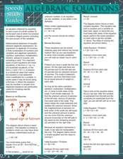 Algebraic Equations (Speedy Study Guide)
