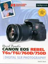 David Busch S Canon EOS Rebel T6s/T6i/760d/750d Guide to Digital Slr Photography:  115 X-Pert Tips to Get the Most Out of Your Camera