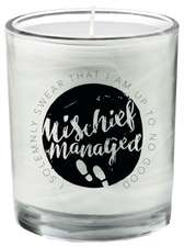 Harry Potter: Mischief Managed Glass Votive Candle