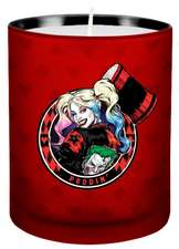Harley Quinn Glass Votive Candle