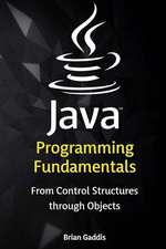 Java Programming Fundamentals: From Control Structures Through Objects