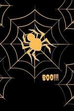 Boo!!!: Halloween Spider Themed Notebook