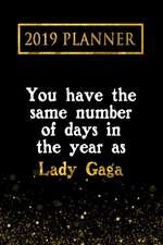2019 Planner: You Have the Same Number of Days in the Year as Lady Gaga: Lady Gaga 2019 Planner