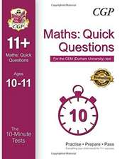 10-Minute Tests for 11+ Maths: Quick Questions Ages 10-11 - CEM Test