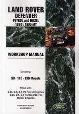 Land Rover Defender Petrol and Diesel 1993/1995 My Workshop Manual: Covering 90 110 130 Models