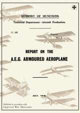 Report on the A.E.G. Armoured Aeroplane:  July 1918reports on German Aircraft 4