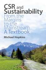 Csr and Sustainability:  A Textbook