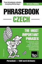 English-Czech Phrasebook and 1500-Word Dictionary