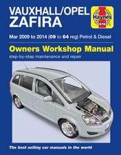 Vauxhall/Opel Zafira (Mar 09-14) 09 to 64 Haynes Repair Manual